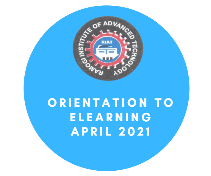 Orientation to eLearning April 2021